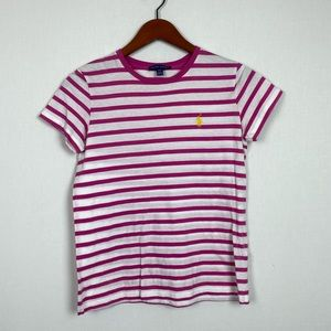 Ralph Lauren Pink Striped T-shirt